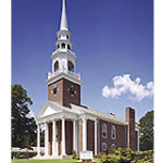 exterior view of Meeting House with steeple