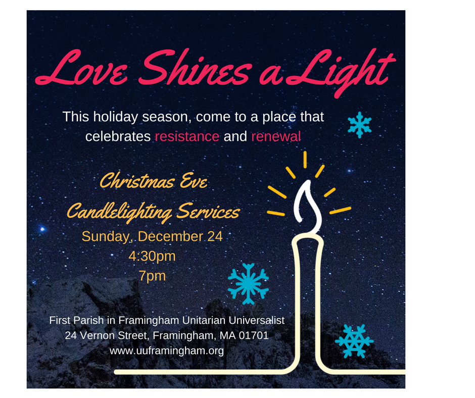 Christmas Eve Candle Lighting Services 4:30 and 7pm