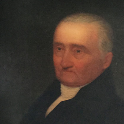 painted portrait of Rev. Kellogg